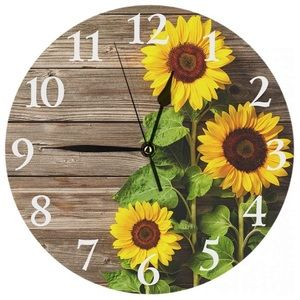 Round Wall Clock Silent Non Ticking Clock 9.5 Inch